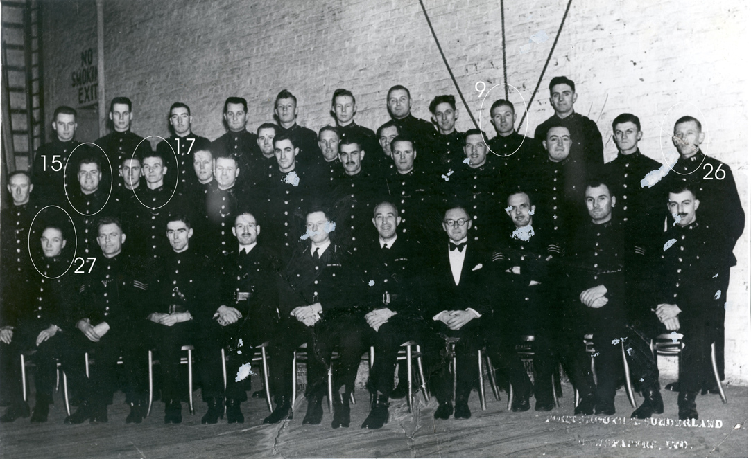 One of the first photographs of the Portsmouth City Police Choir in 1941